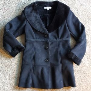 New York and Company Womens faux fur lined coat Sm